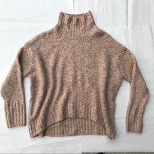 Sweaters - Oversized tan turtle neck sweater